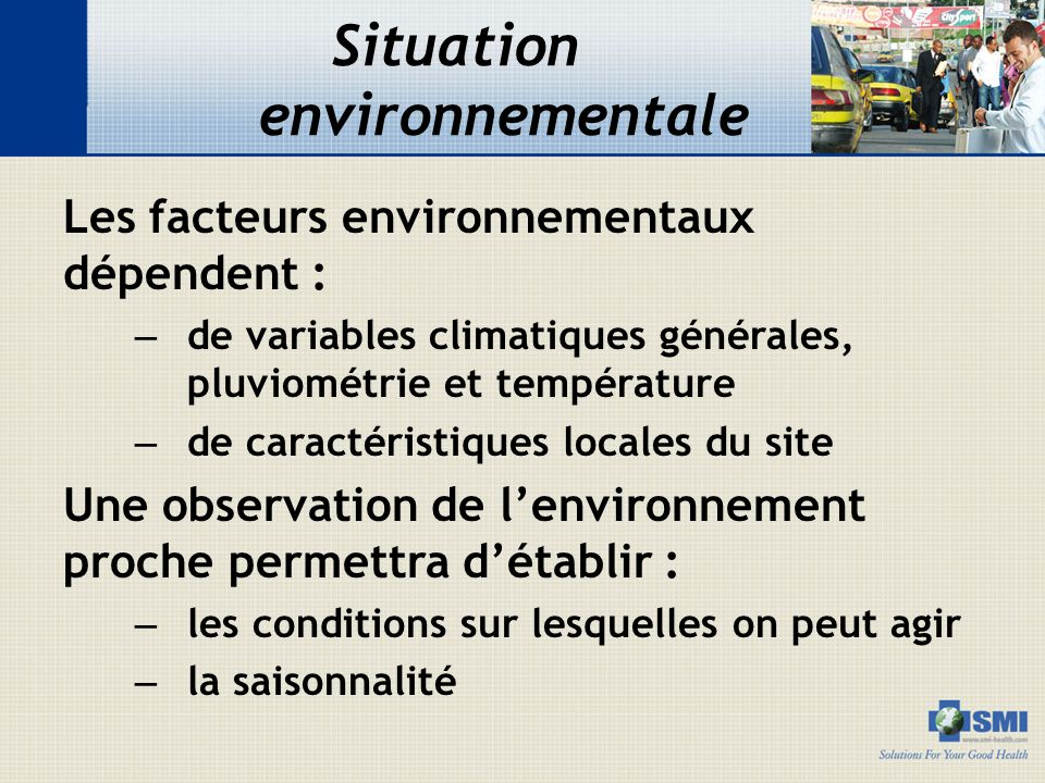 Situation environnementale