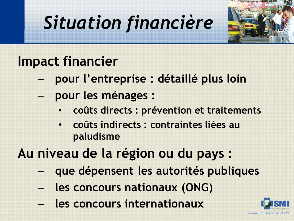 Situation financière Impact financier