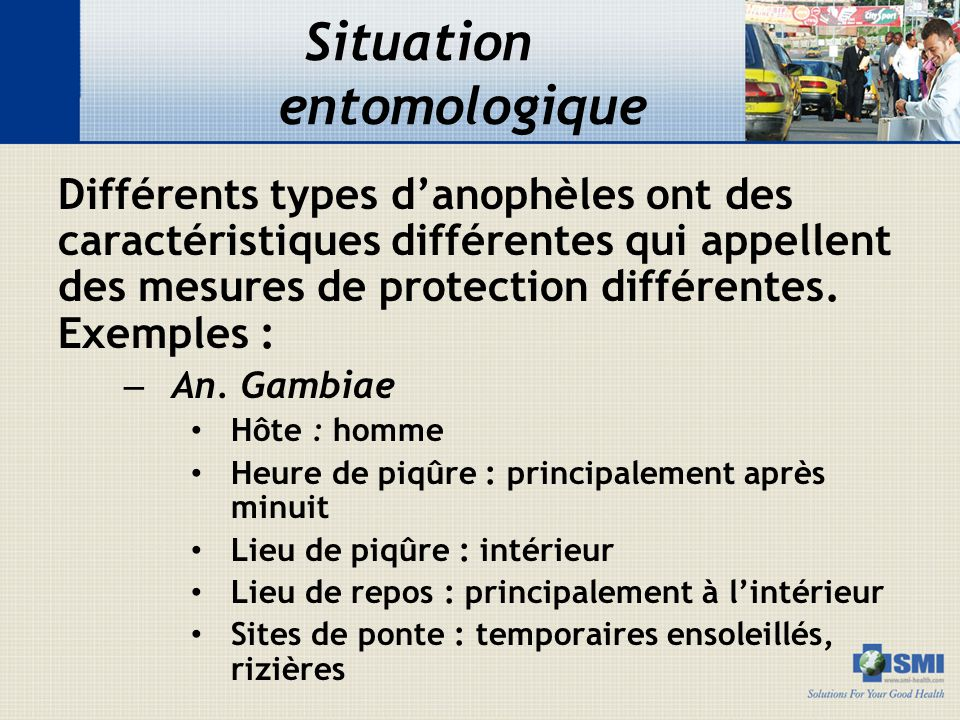 Situation entomologique