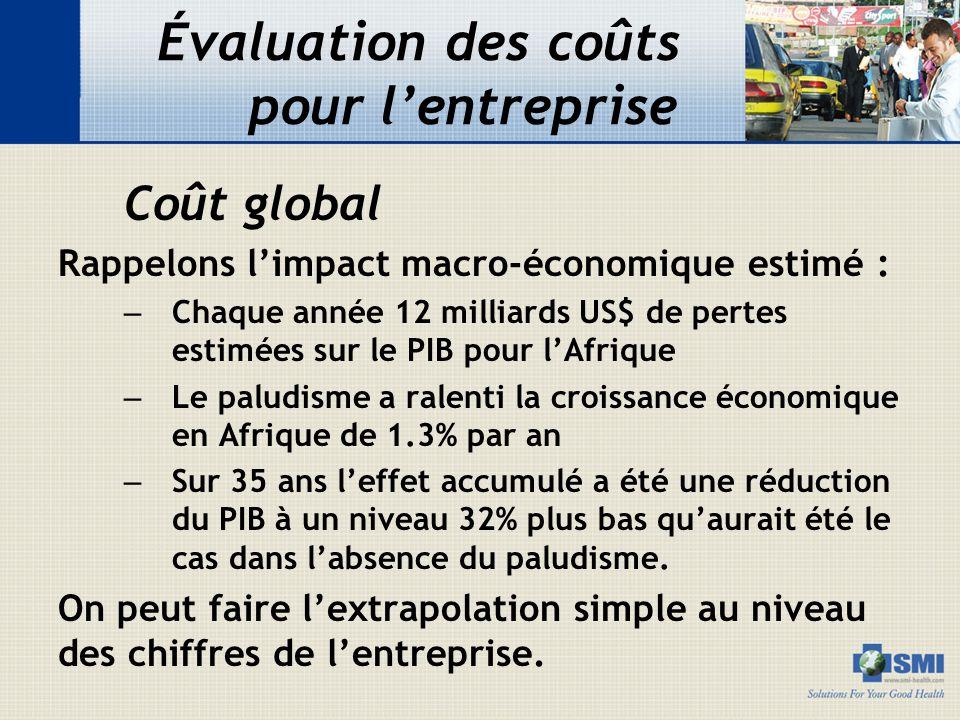 Évaluation des coûts pour l'entreprise