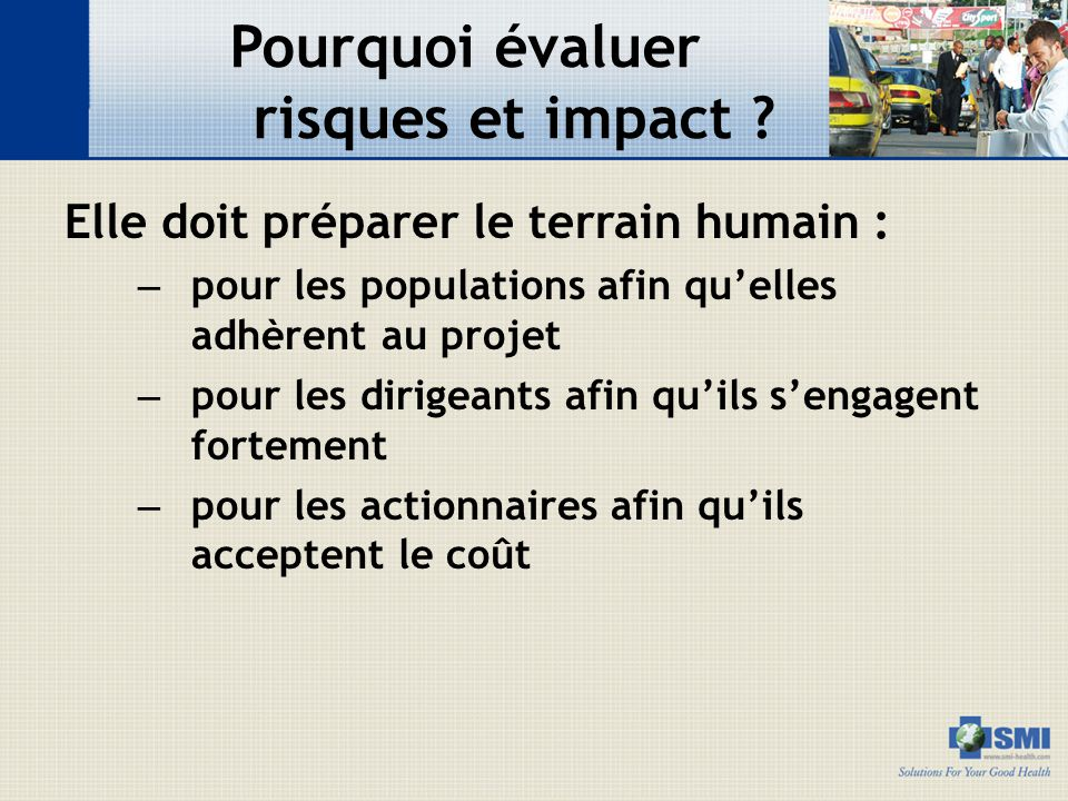 Pourquoi évaluer risques et impact