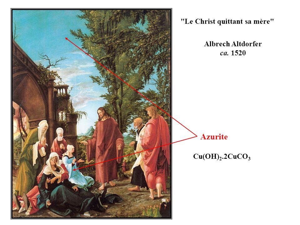 Azurite Le Christ quittant sa mère Albrech Altdorfer ca. 1520