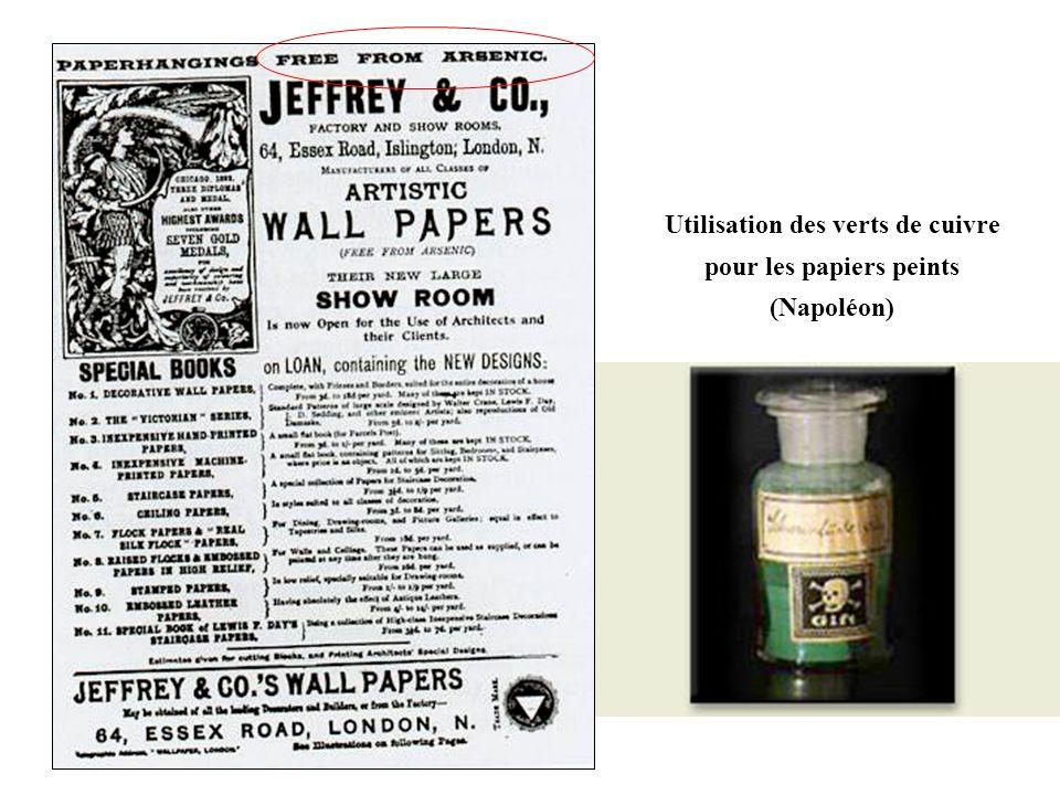 Utilisation des verts de cuivre pour les papiers peints