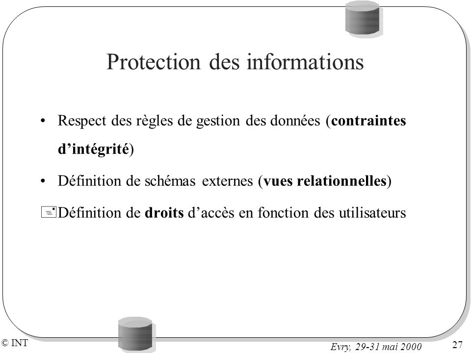 Protection des informations
