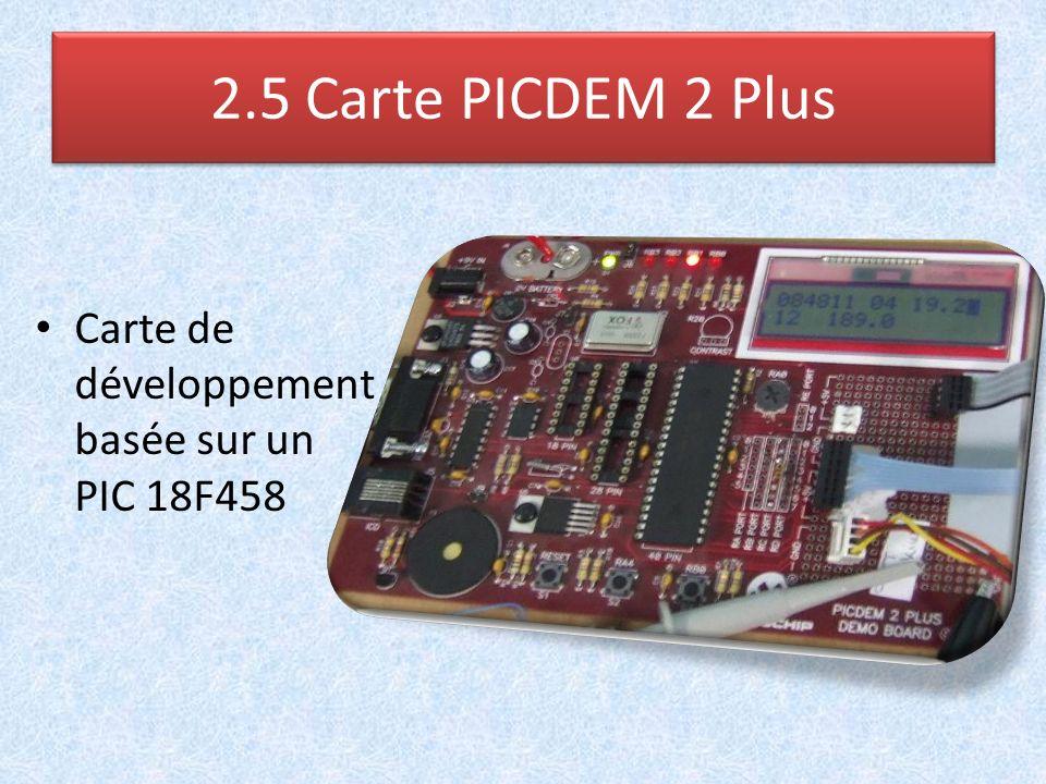 2.5 Carte PICDEM 2 Plus Carte de développement basée sur un PIC 18F458