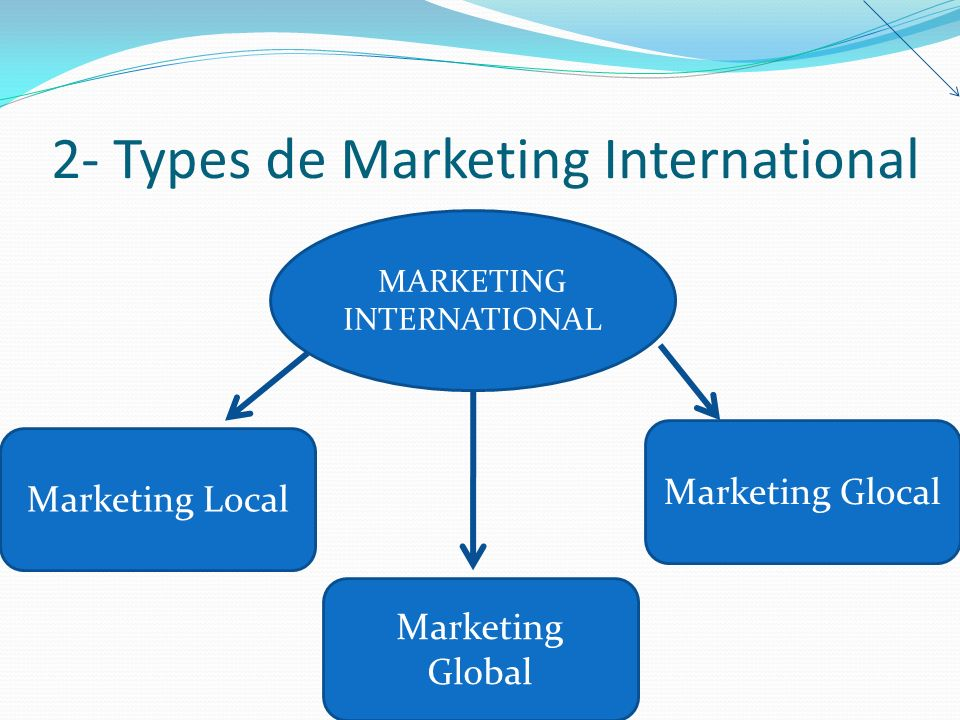 2- Types de Marketing International