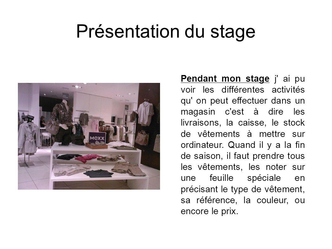 Présentation du stage