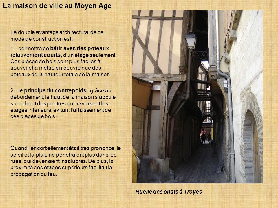 La maison de ville au Moyen Age