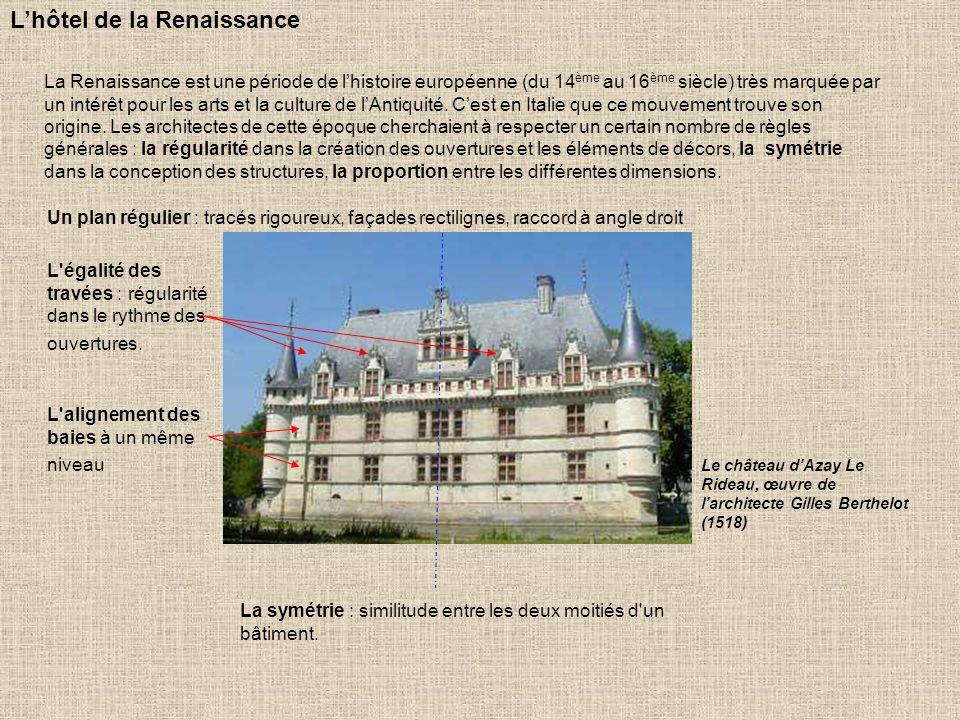 L'hôtel de la Renaissance