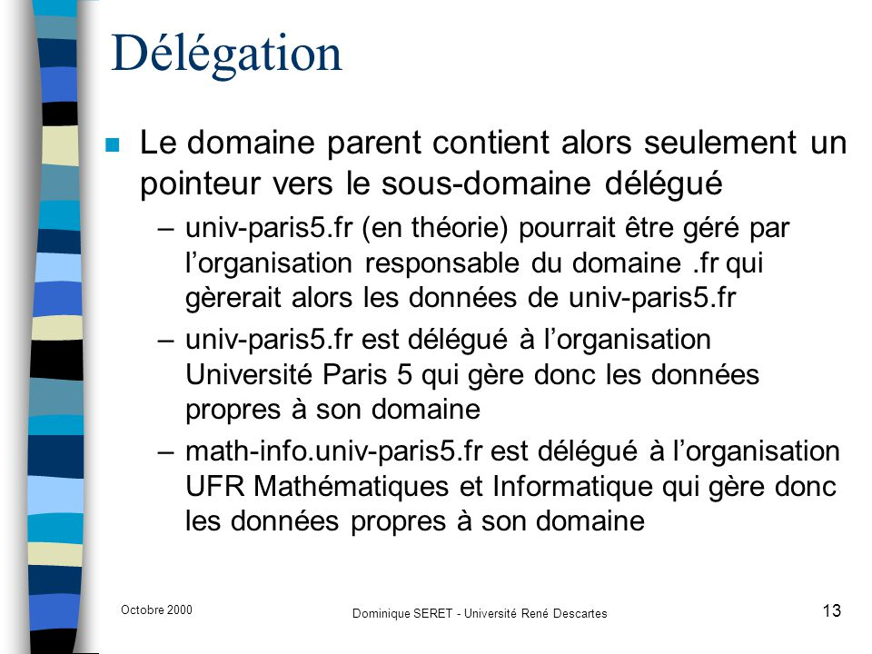 Dominique SERET - Université René Descartes