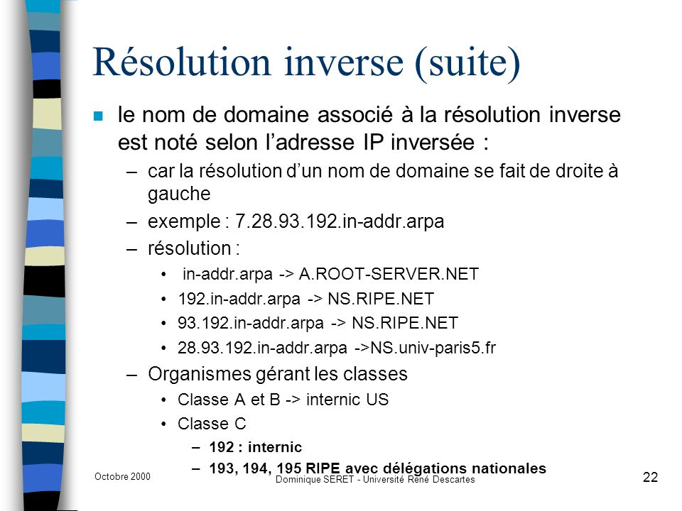 Résolution inverse (suite)