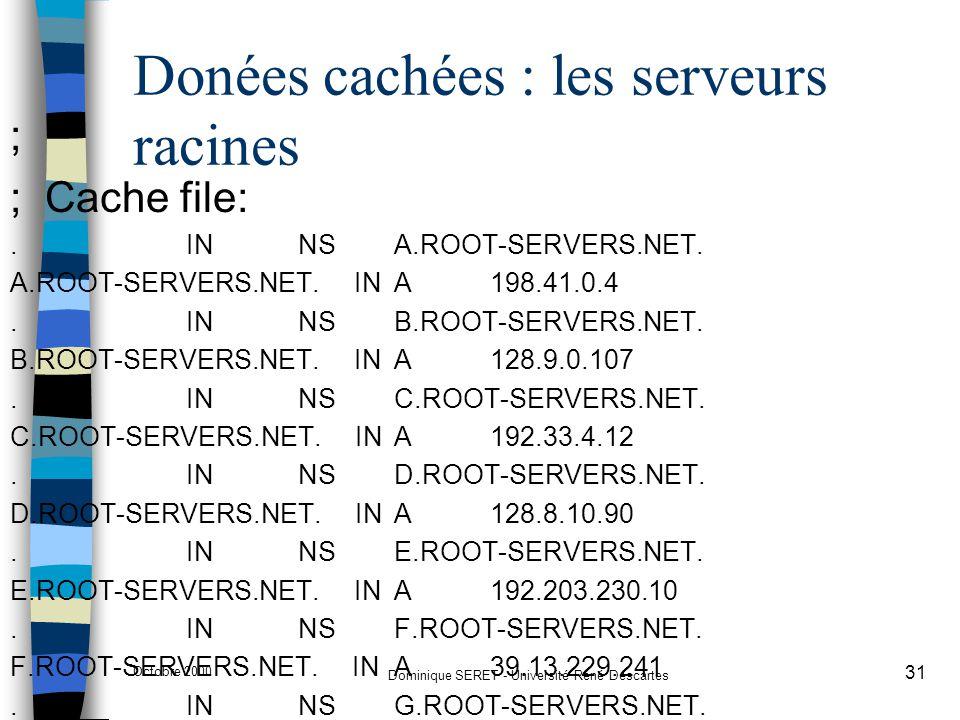 Donées cachées : les serveurs racines