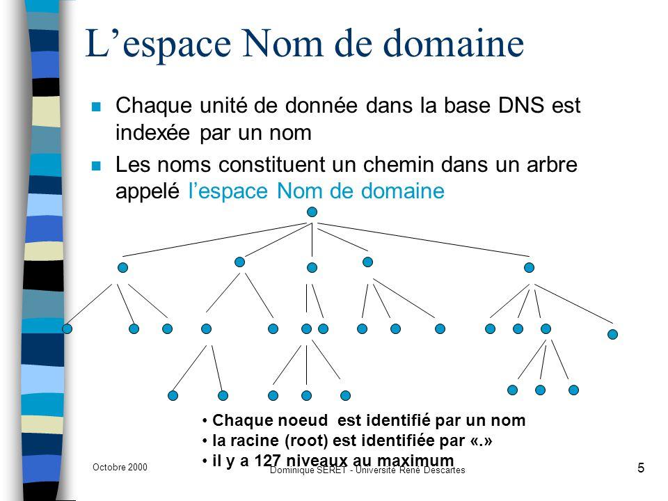 L'espace Nom de domaine