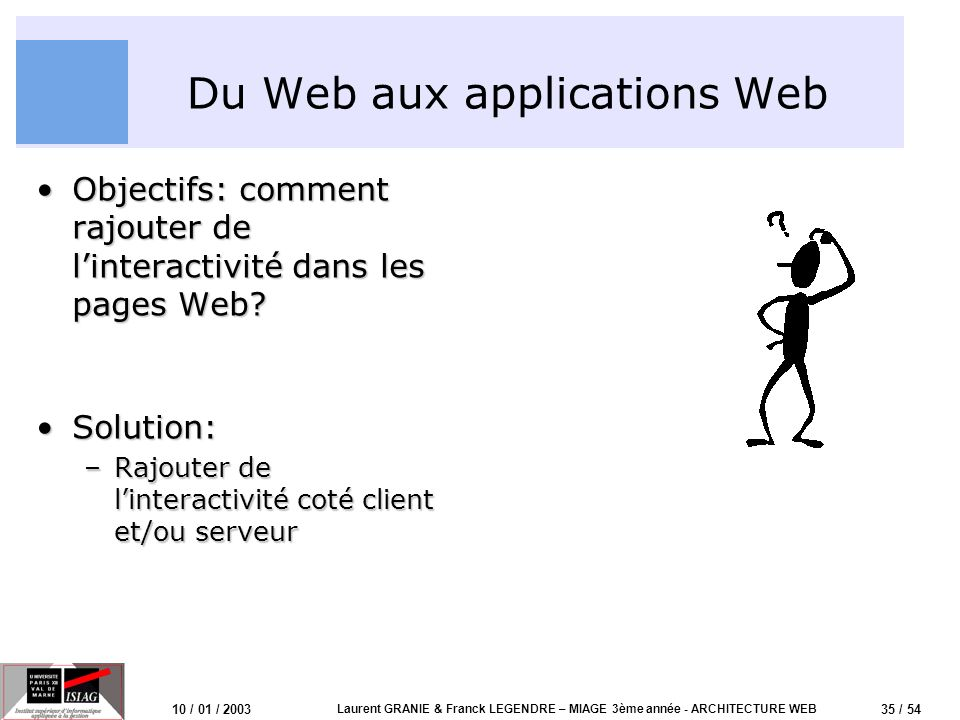 Du Web aux applications Web
