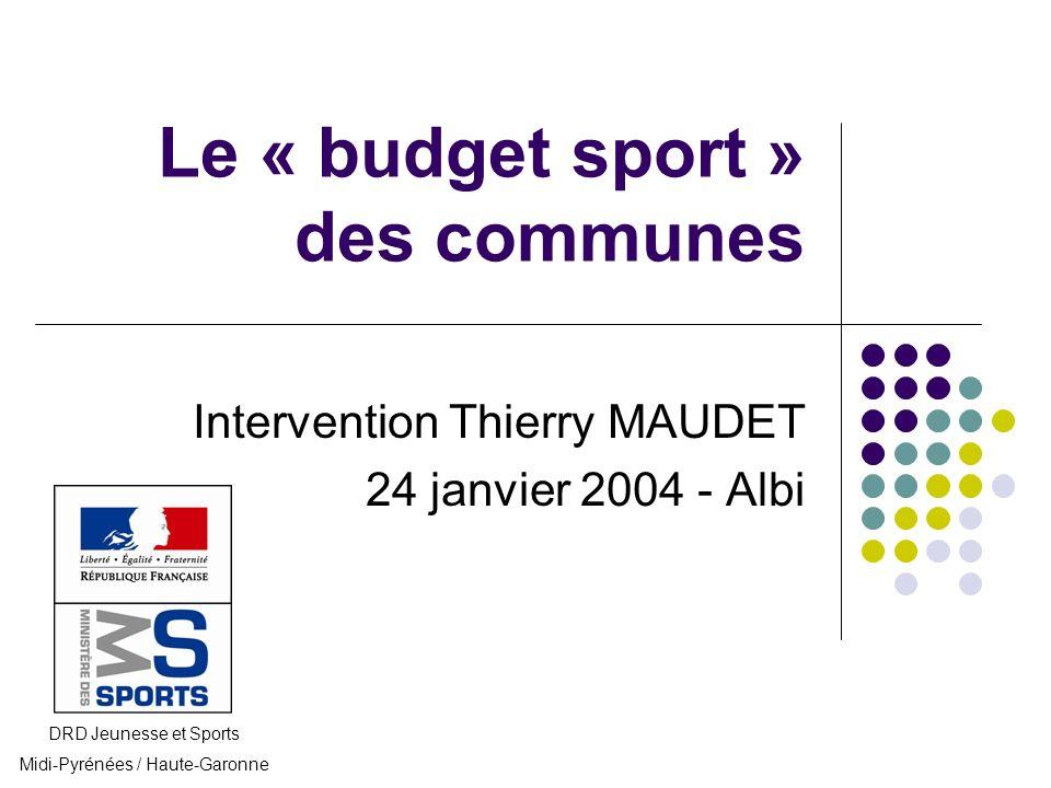 Le « budget sport » des communes