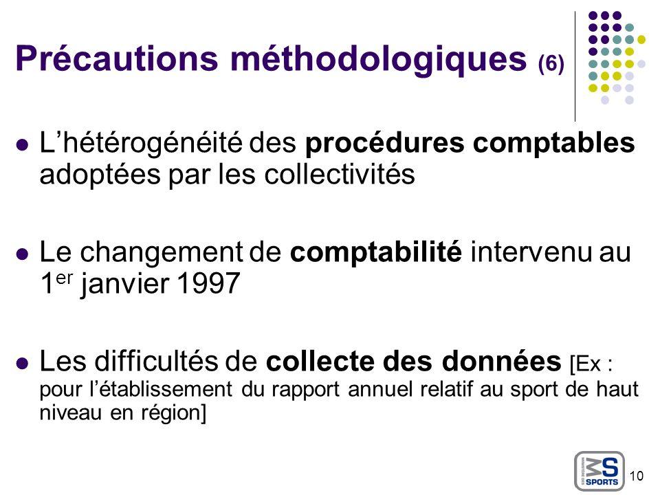 Précautions méthodologiques (6)