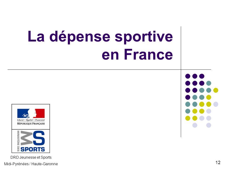 La dépense sportive en France