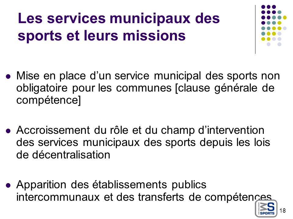 Les services municipaux des sports et leurs missions