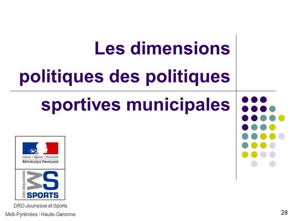 Les dimensions politiques des politiques sportives municipales