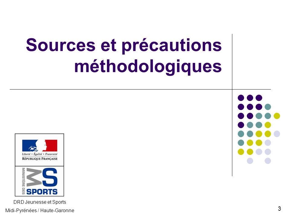 Sources et précautions méthodologiques