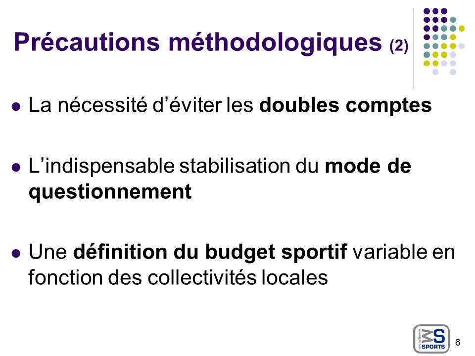 Précautions méthodologiques (2)