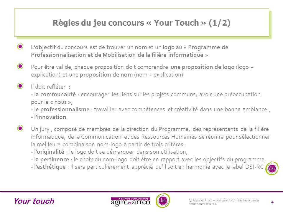 Règles du jeu concours « Your Touch » (1/2)