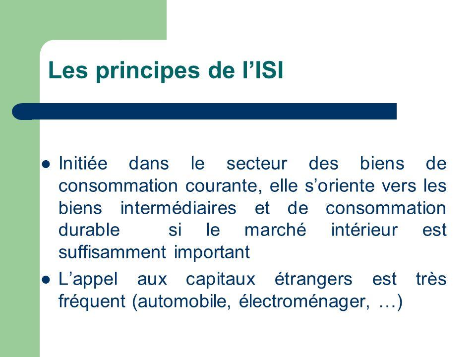 Les principes de l'ISI