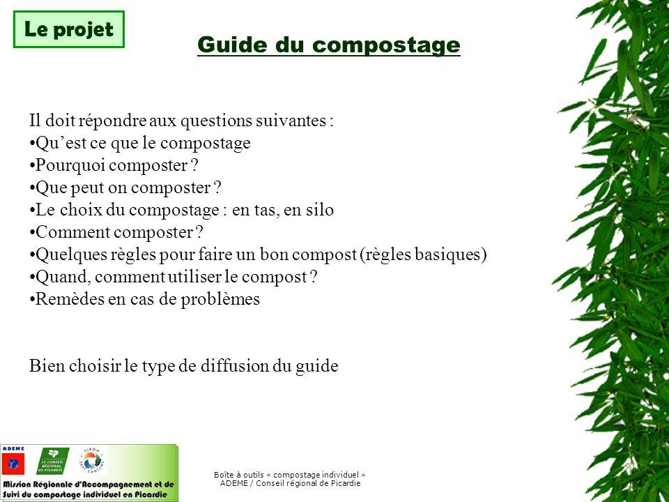 Le projet Guide du compostage
