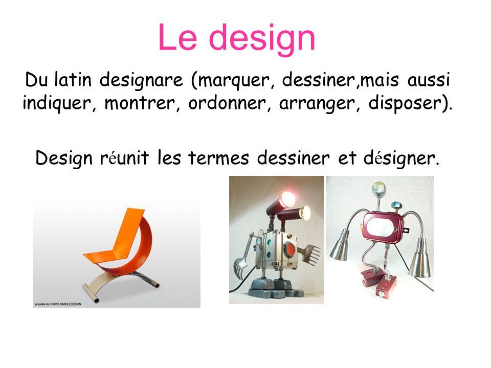 Design réunit les termes dessiner et désigner.