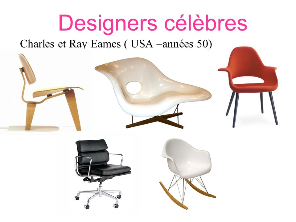 Charles et Ray Eames ( USA –années 50)