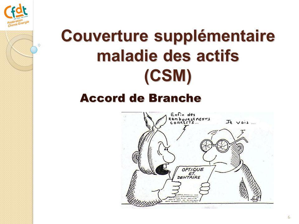 Couverture supplémentaire maladie des actifs (CSM)