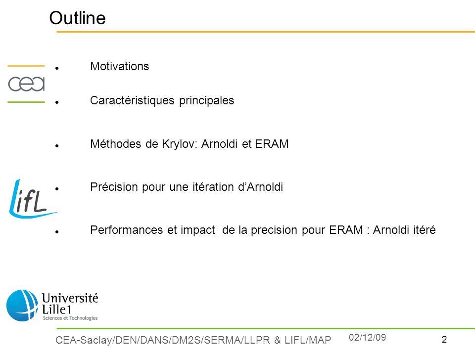 Outline Motivations Caractéristiques principales