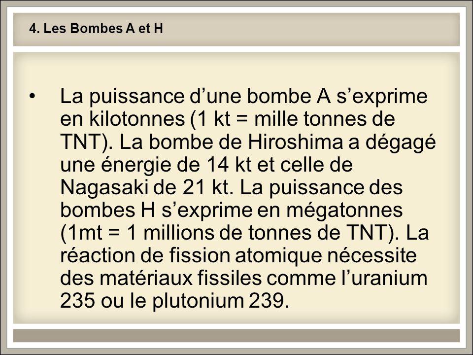4. Les Bombes A et H