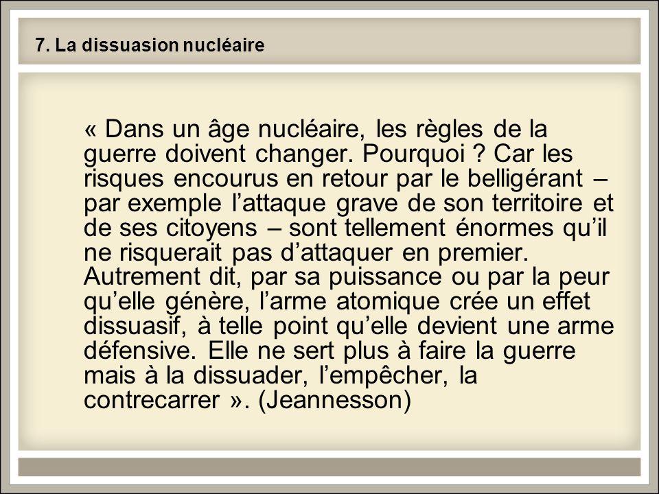 7. La dissuasion nucléaire