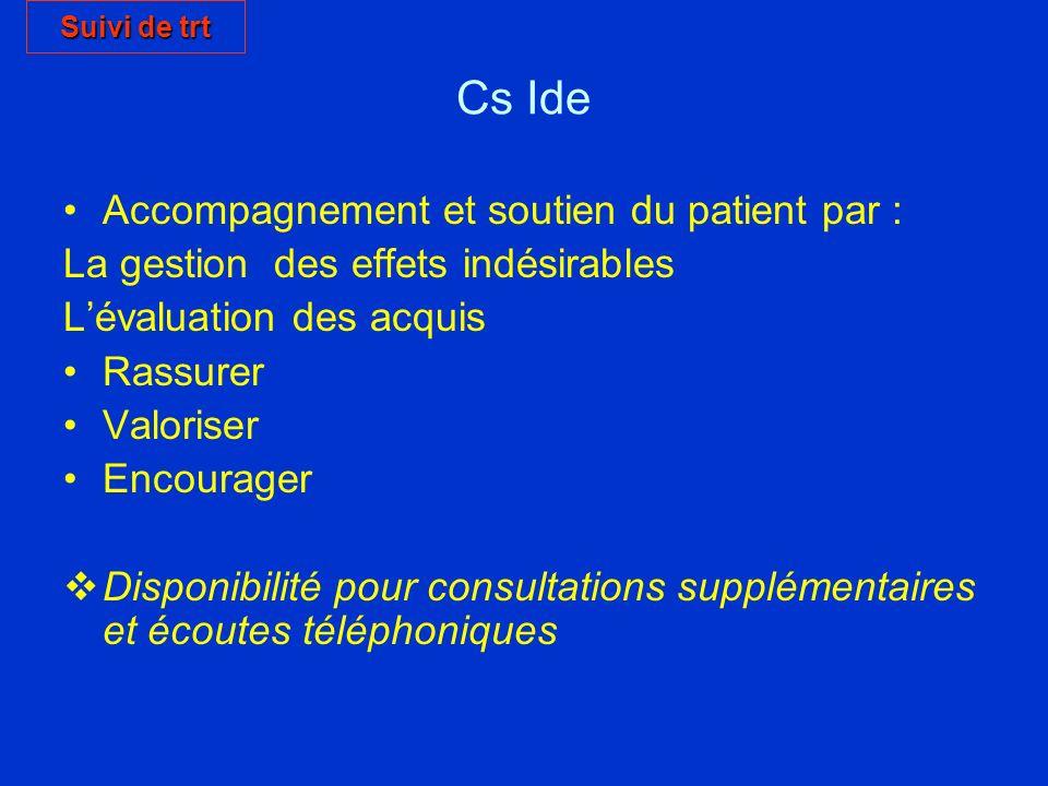 Cs Ide Accompagnement et soutien du patient par :