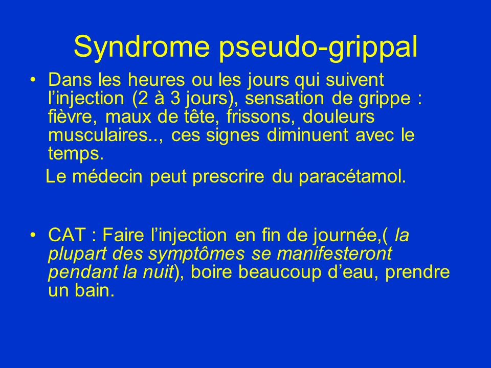 Syndrome pseudo-grippal