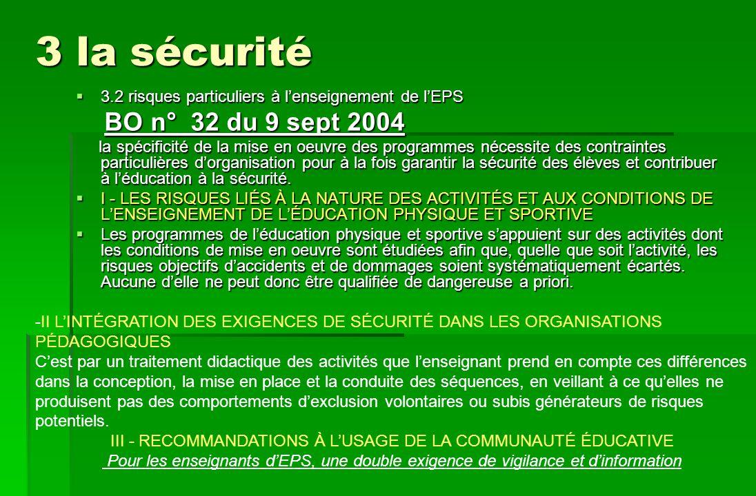 III - RECOMMANDATIONS À L'USAGE DE LA COMMUNAUTÉ ÉDUCATIVE