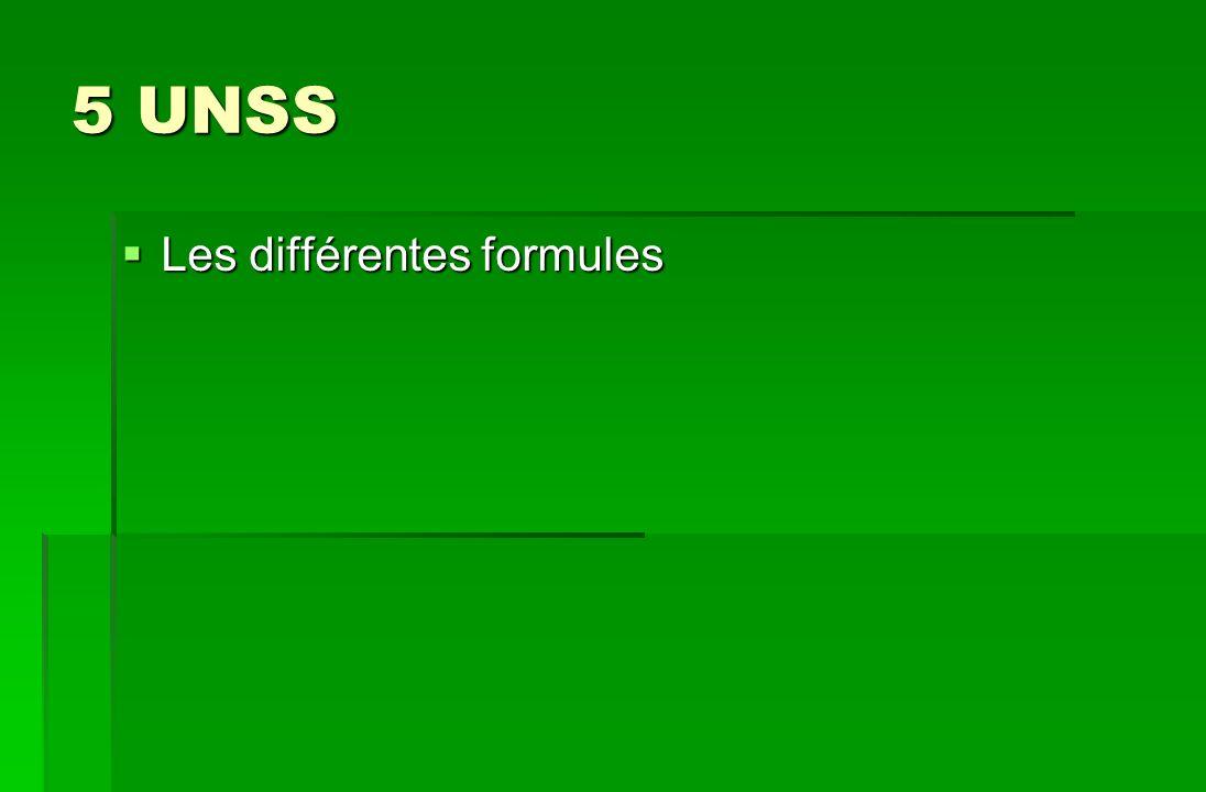 5 UNSS Les différentes formules