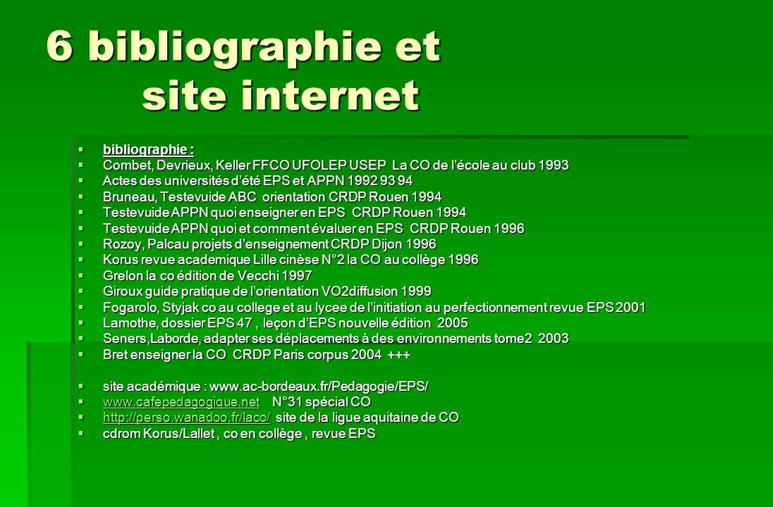 6 bibliographie et site internet