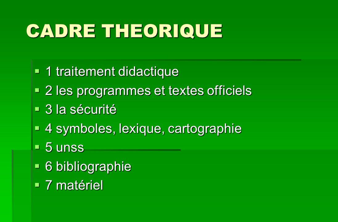 CADRE THEORIQUE 1 traitement didactique