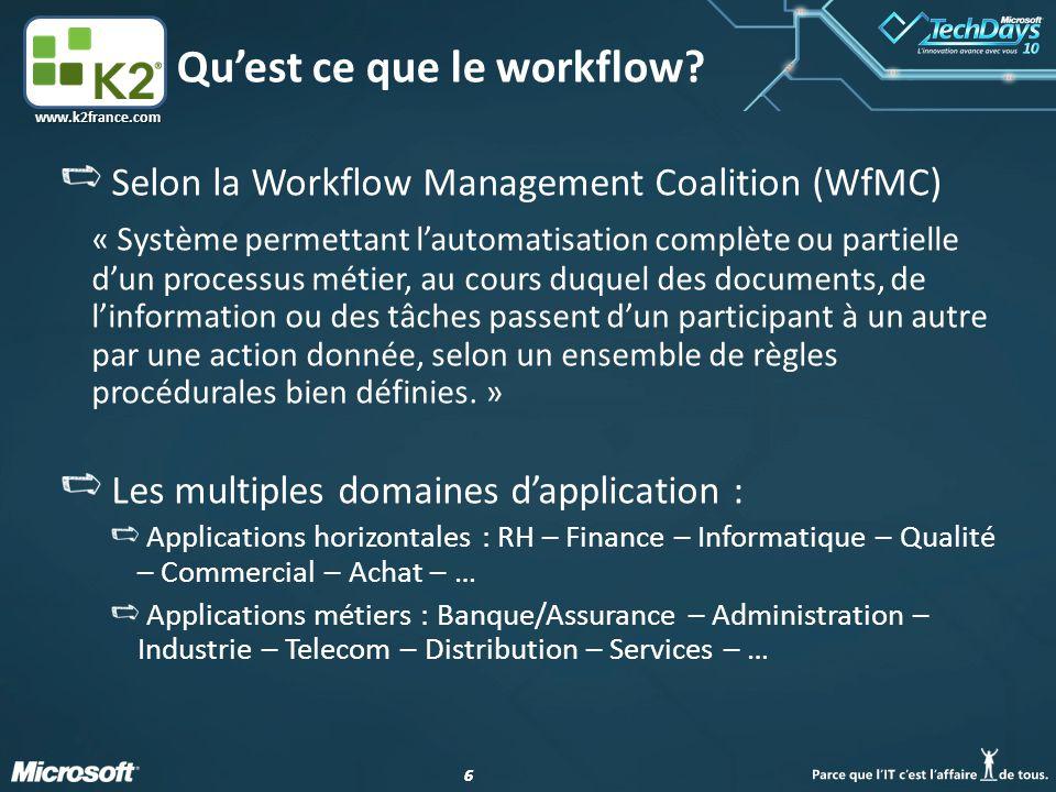 Qu'est ce que le workflow