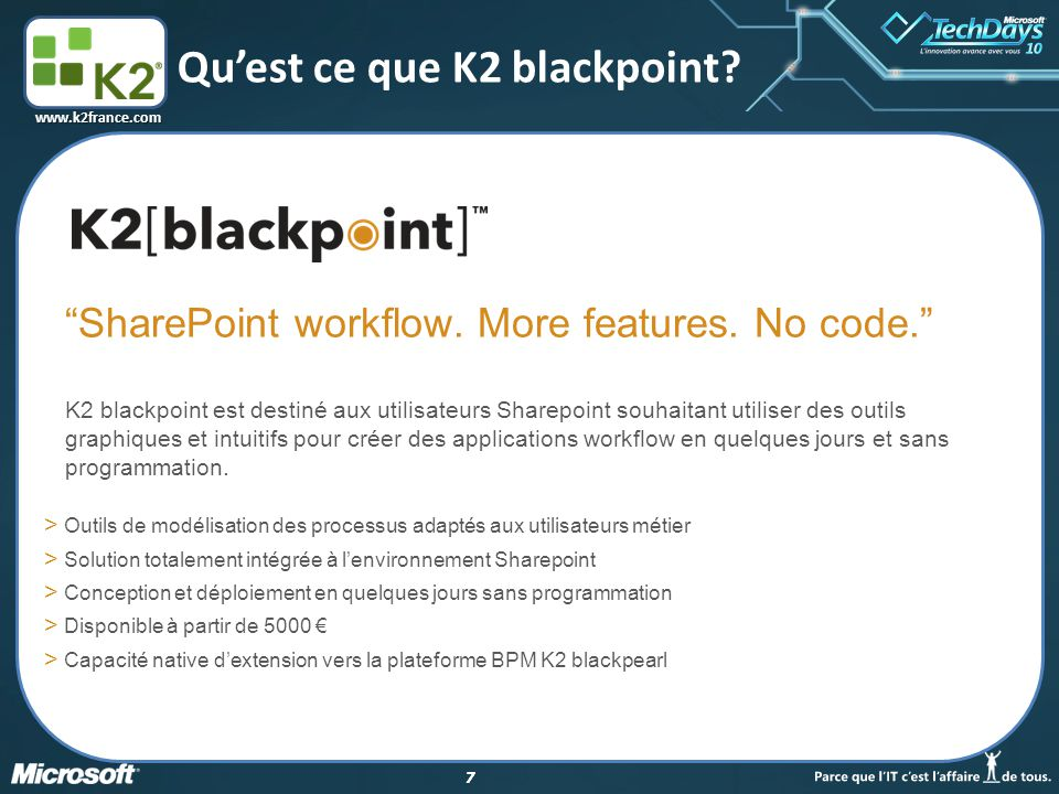 Qu'est ce que K2 blackpoint
