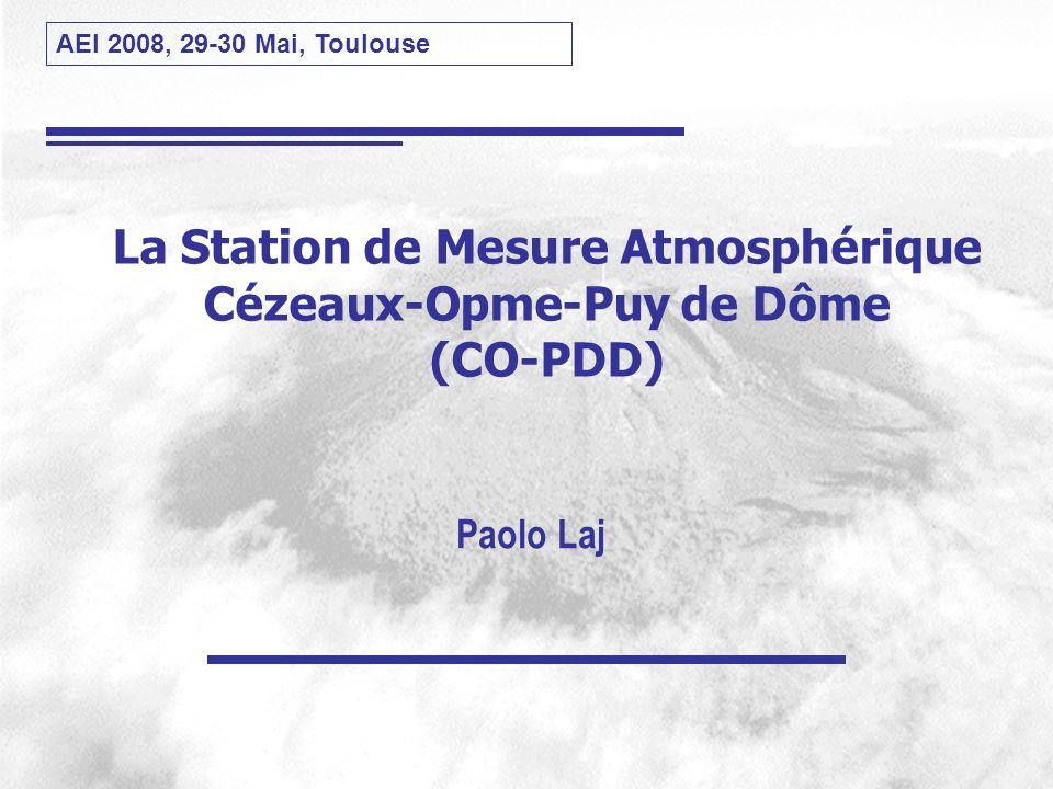 La Station de Mesure Atmosphérique Cézeaux-Opme-Puy de Dôme