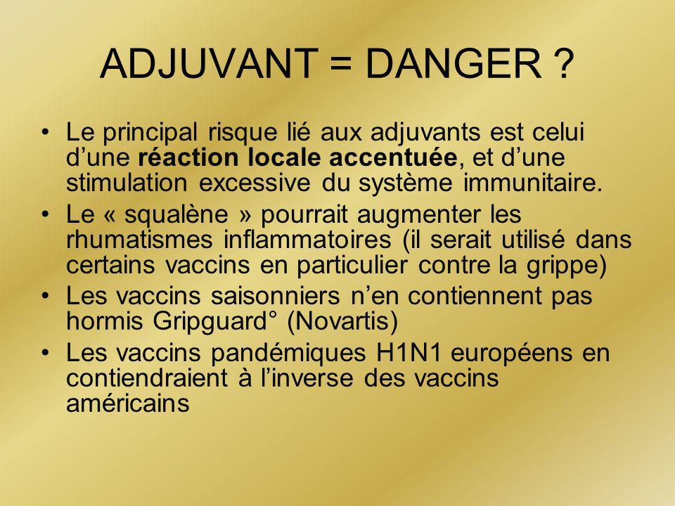 ADJUVANT = DANGER