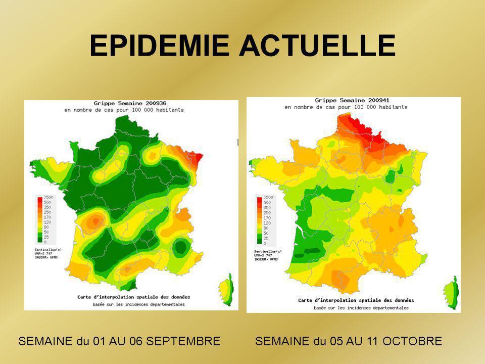 EPIDEMIE ACTUELLE SEMAINE du 01 AU 06 SEPTEMBRE