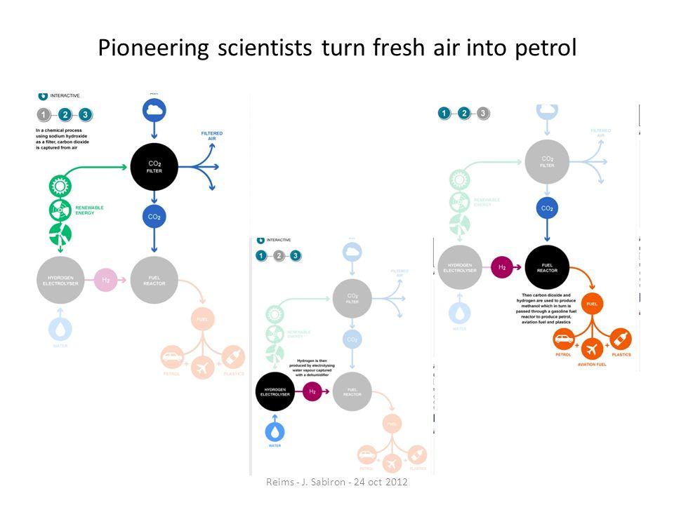Pioneering scientists turn fresh air into petrol