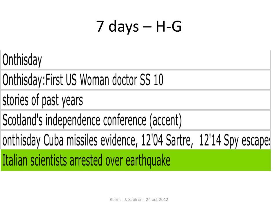 7 days – H-G Reims - J. Sabiron - 24 oct 2012