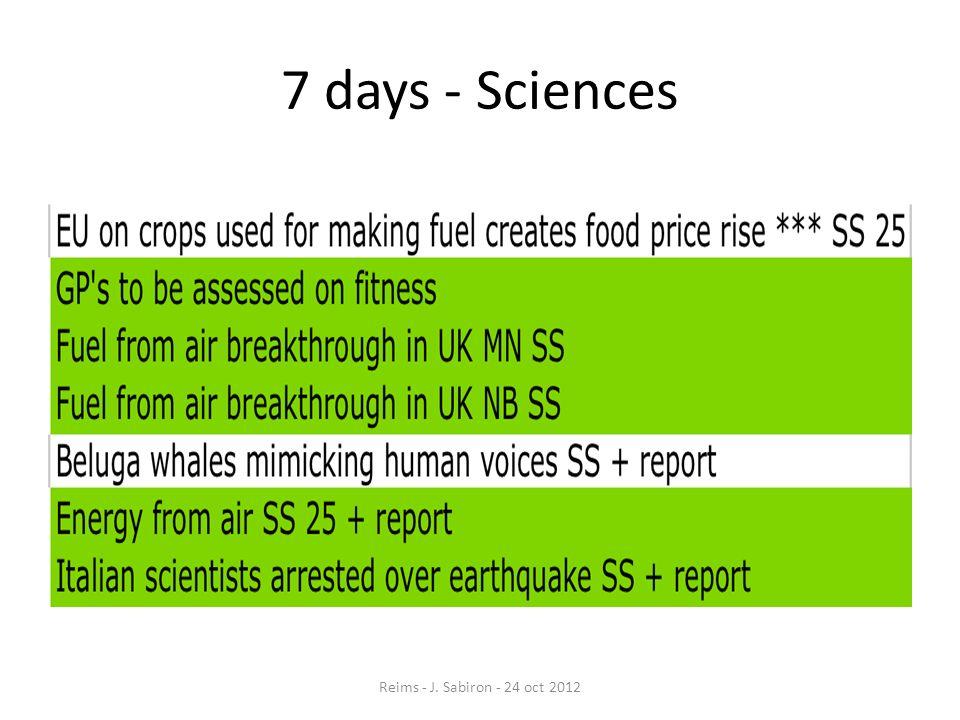7 days - Sciences Reims - J. Sabiron - 24 oct 2012