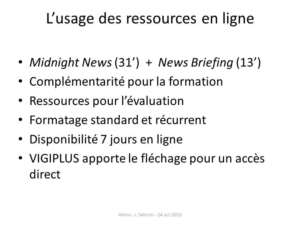 L'usage des ressources en ligne