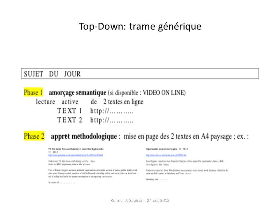 Top-Down: trame générique